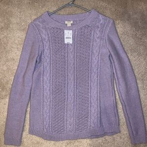 NWT J crew light purple sweater